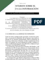 Comentarios Sobre El Derecho a La Informacion