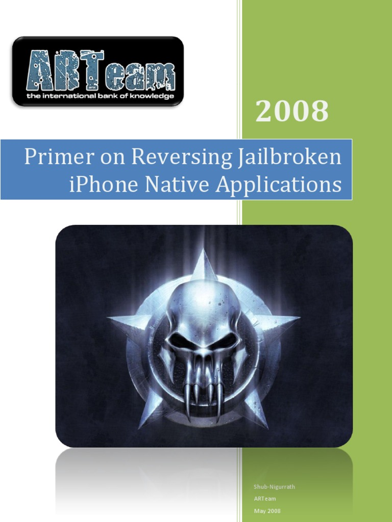 Primer on Reversing Jail Broken iPhone Native