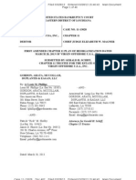 FIRST AMENDED CHAPTER 11 PLAN OF REORGANIZATION DATED MARCH 28, 2013 OF VIRGIN OFFSHORE U.S.A., INC.