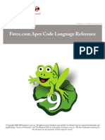 Sales Force Apex Language Reference Ver 15.0