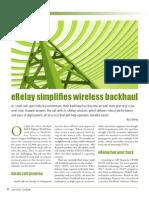 Erelay Wireless Back Haul
