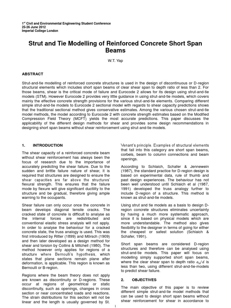 30A-Yap-Strut and Tie Modelling of Reinforced Concrete Short