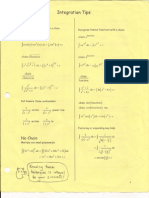 Integral Calculus - Integration Tips