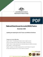National - Australia Greenhouse Accounts (NGA) Factors