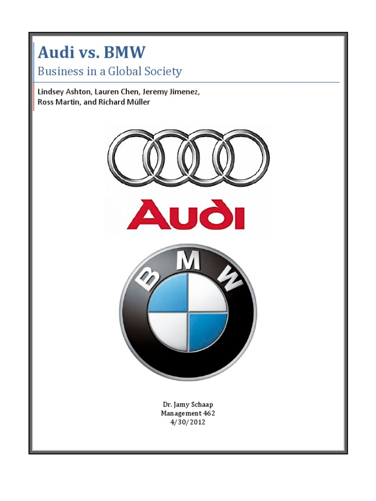 Audi Vs Bmw Audi Bmw