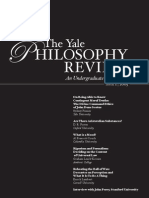 The Yale Philosophy Review N1 2005
