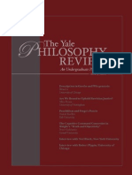 The Yale Philosophy Review N3 2007