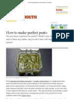 How to Make Perfect Pesto