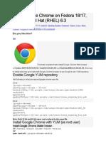 Install Google Chrome on Fedora 18