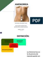 Amenorrea Primaria y Secundaria y Fisiologia (1)