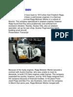 Presentation Script of BMW