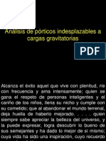 Analisis de Porticos Indesplazables 2012