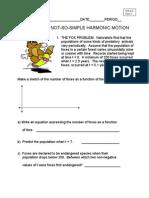 Harmonic Motion Worksheet Part 3
