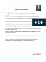 Wage Detemination en Efficiency in Search Equilibrium
