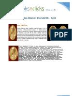 Nobel Laureates Born in the Month April