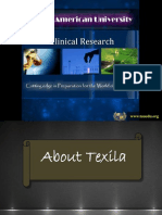 Clinical Research at Texila American University