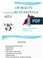 Trend of Beauty Culture in Badulla Area New (