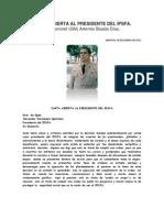 Carta Abierta Al Presidente Del Ipsfa