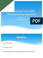 Professional Personality Devlopment Programme 11B.tech