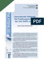 Joanna Dobrowolska-Polak, Internationale Solidarität. Die Friedensoperationen der UN, NATO und EU