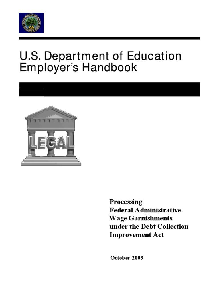 worksheet Wage Garnishment Worksheet description tags employers handbook garnishment withholding tax