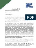 Egon Bahr Fellowship Programm Der FES 2013