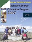 SEIcataloSOLAR ENERGY INTERNATIONAL Renewable Energy Education Program