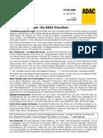Checkliste Gebrauchtwagenkauf