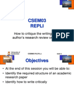 Lecture 4 Writing an Academic Paper