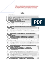 Modelo de Gestion de Recursos Humanos Basado en La Democracia Participativa y Los Valores Humanos