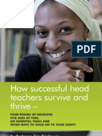 How Head Teachers Survive and Thrive by Prof Tim Brighouse