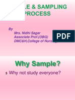 4. Sample and Sampling Process