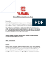 Yahama's Macro and Micro marketing environment
