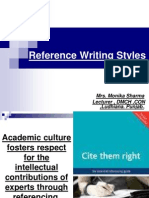 8. Reference Writing Styles