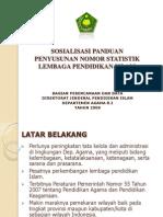 Bahan Sosialisasi Panduan Nomor Statistik