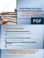 Motivating Teachers to Attempt Innovation FINAL PRESENTATION