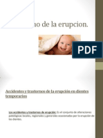Trastorno de La Erupsion, Odontopediatria.