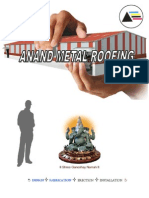 Anand Metal Roofing Corporate Profile - 2012