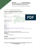 Lab 1- Sampling and Quantization Using MATLAB