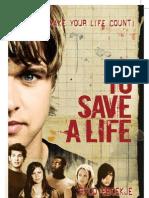 Dvd Boekje To Save a Life