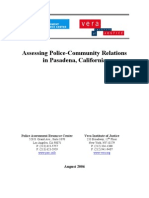 Assessing Police Community Relations in Pasadena California