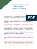 Valorisation Et Sous Evaluation Des Entreprises