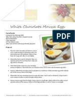 White Chocolate Mousse Eggs