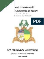 Lei Organica Do Municipio de Timon