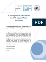 E-Participation Mechanisms on the Web-Pages of Public Institutions