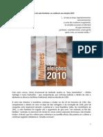O direito de voto feminino e as mulheres nas eleições 2010