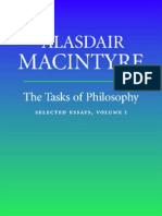 Alasdair MacIntyre - The Tasks of Philosophy, Selected Essays, Vol. I