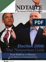 Tufts Roundtable, Volume 1, November 2008