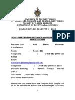 GOVT 2034-HRM Course Notes 2013