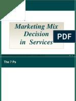 Service -Marketing Mix Decesions